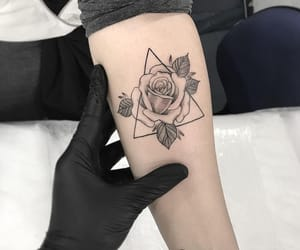 tattoo, rose, and tattos image