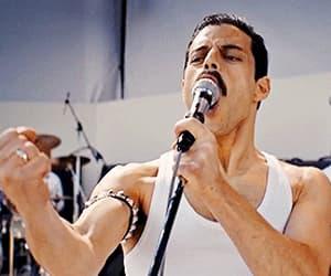 Freddie Mercury, rock music, and bohemian rhypsody image