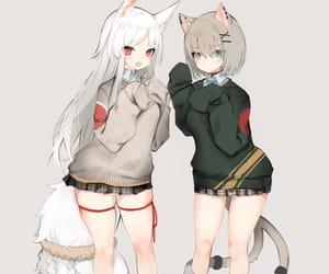 anime, anime girl, and neko image