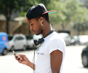 boy, earring, and fashion image
