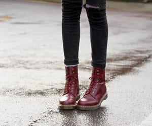 boots, red, and shoes image