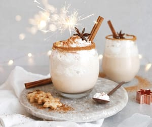 drink, eggnog, and food image