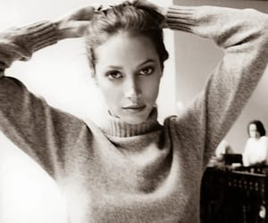 model, black and white, and Christy Turlington image