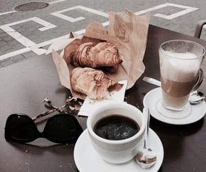 coffee, food, and croissant image