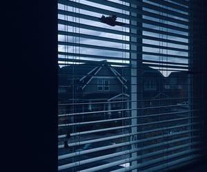 bedroom, blue, and dark image