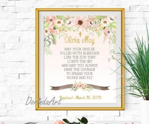 etsy, pink and gold, and christening gift image