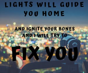 city, city lights, and coldplay image