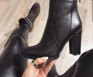 ankle boots, boots, and tan boots image