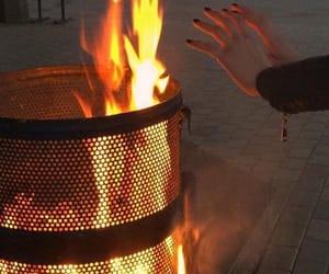 grunge, dark, and fire image