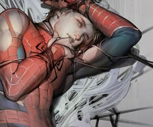 boy, spiderman, and peter parker image