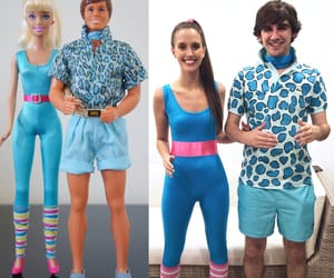 barbie, costume, and couple image