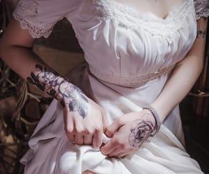 tattoo, pink, and dress image