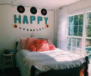 bedroom, decor, and happiness image