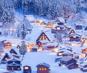 snow, winter, and Houses image