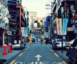 korea, street, and asia image