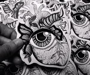 art, black, and blanco image