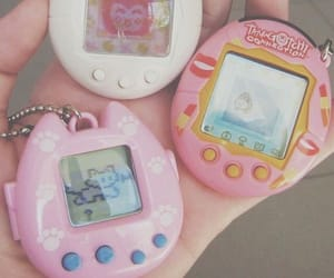 pink, aesthetic, and tamagotchi image