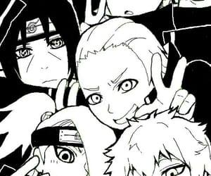 akatsuki, black and white, and itachi image