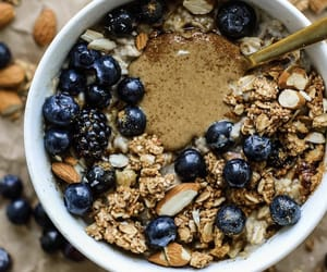 blackberry, blueberry, and bowl image
