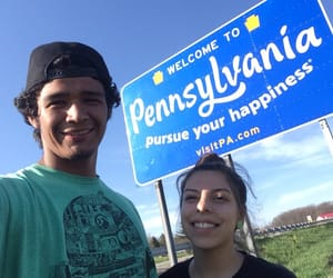 couple, Road Trip, and smile image