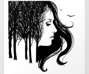 birds, whisper, and woman image