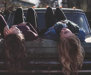 friends, car, and friendship image