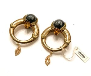 nos, vintage earrings, and italian designer image