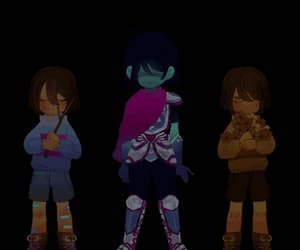 flowers, gif, and frisk image