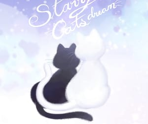 black cat, dreamy, and wallpaper image