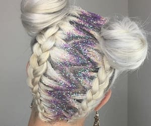 hairstyle, trenzas, and look image
