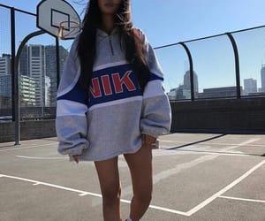 fashion, girl, and oversized image