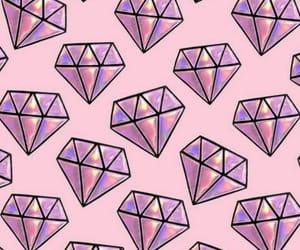 wallpaper, diamond, and pink image