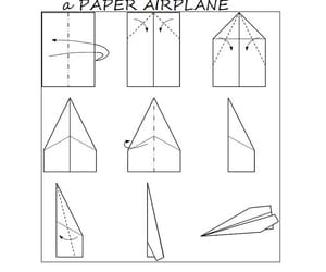 aeroplane, craft, and Paper image