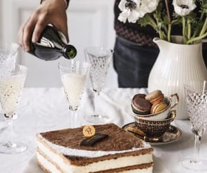 cafe, champagne, and cake image