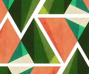 geometric, green, and palette image