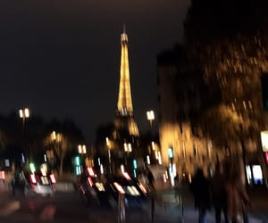 blurry, cars, and eiffeltower image