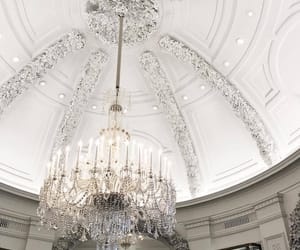 chandelier and white image
