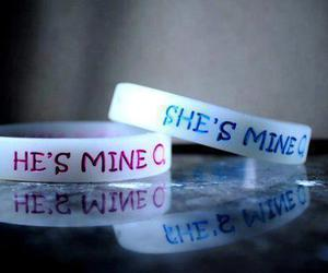 love, he, and bracelet image