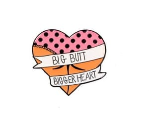 butt, heart, and pins image