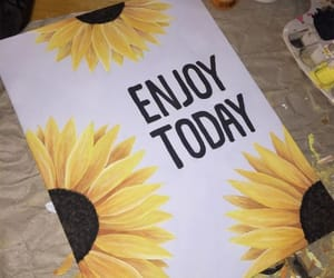 aesthetic, painting, and sunflower image