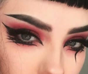 makeup, aesthetic, and goth image