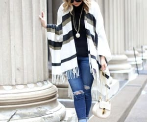 cape, scarf, and plaid scarf image