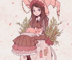 girl, cute, and witch image