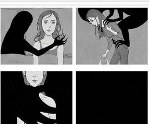 depression, sad, and Darkness image