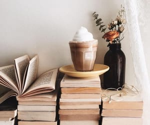 book, coffee, and home image