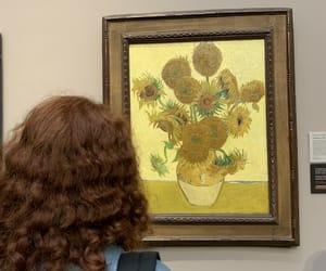art, sunflower, and van gogh image