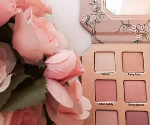 pink, flowers, and cosmetics image