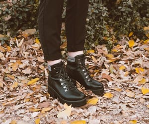 alternative, autumn, and black boots image