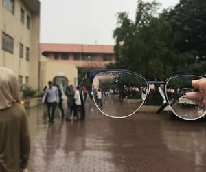 cold, college, and glasses image
