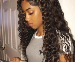 curly hair and baddie image